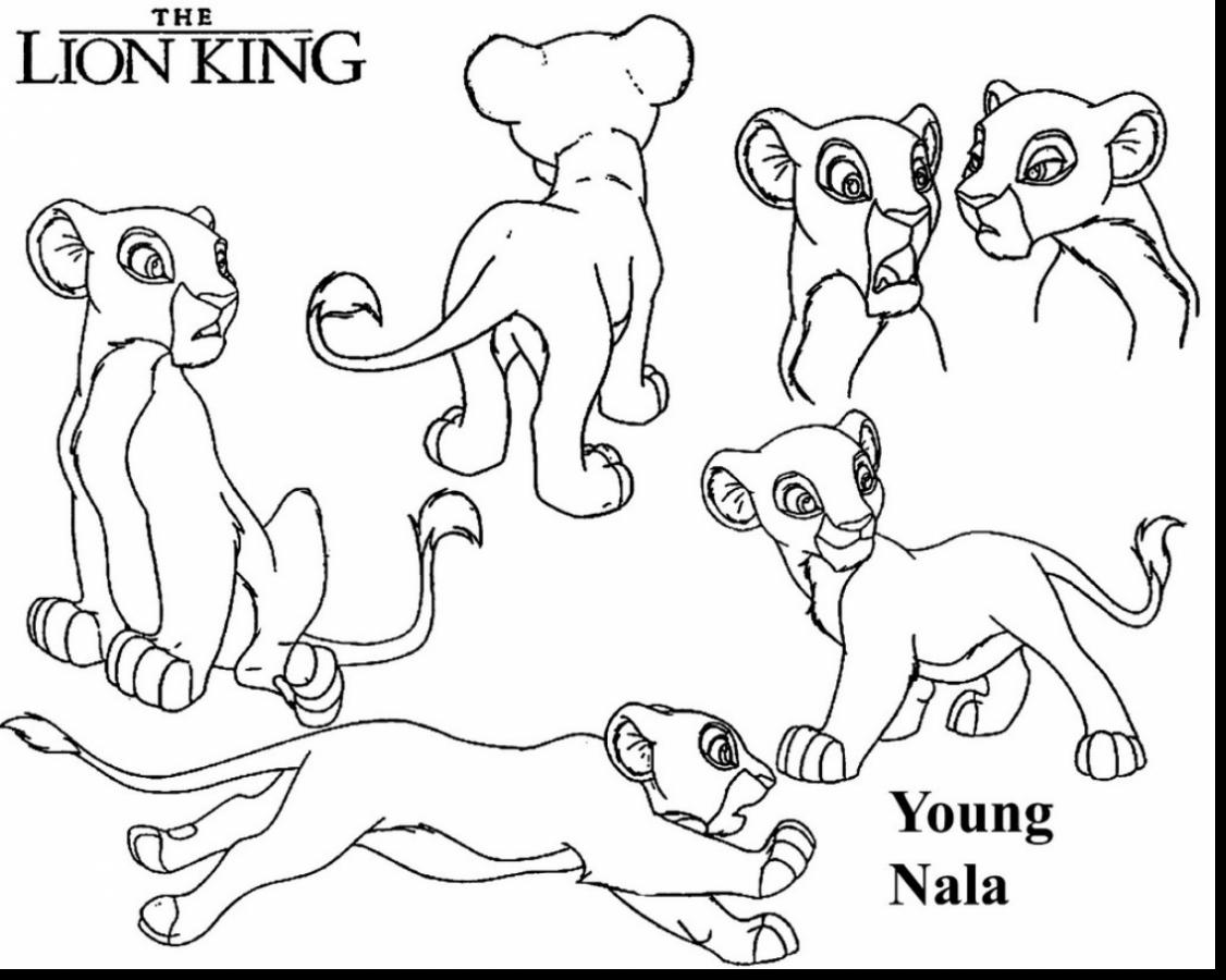 Lion King Coloring Pages Nala At Getcolorings