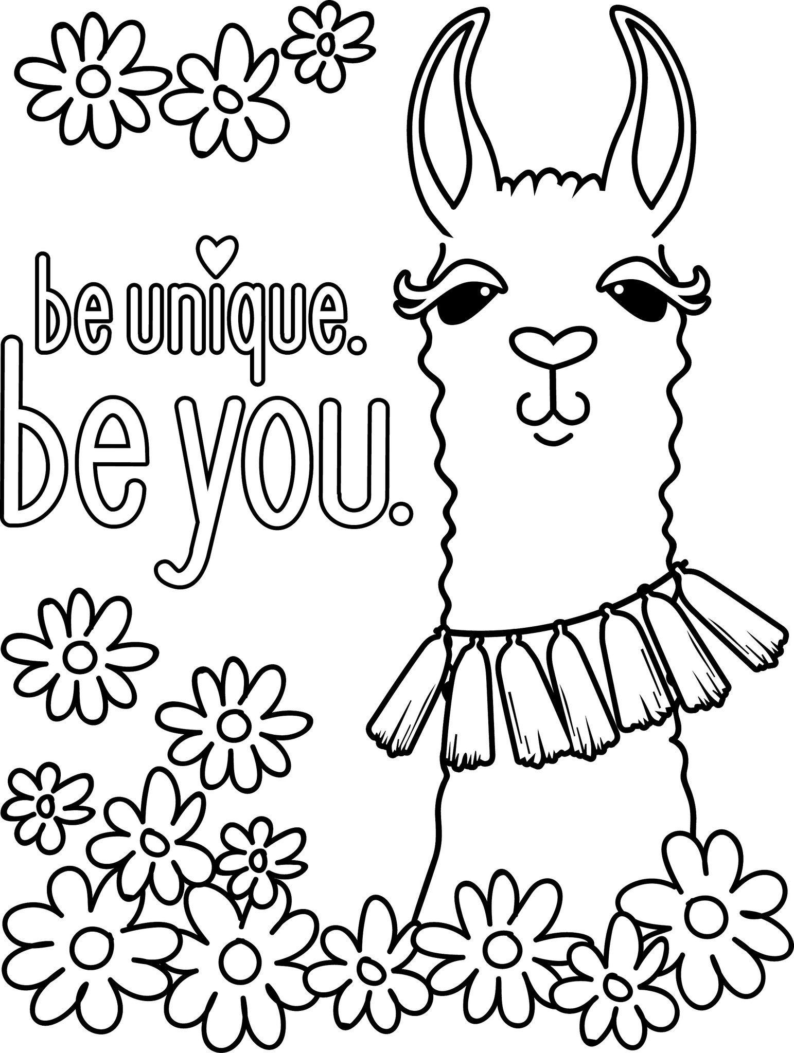 Llama Coloring Page At Getcolorings
