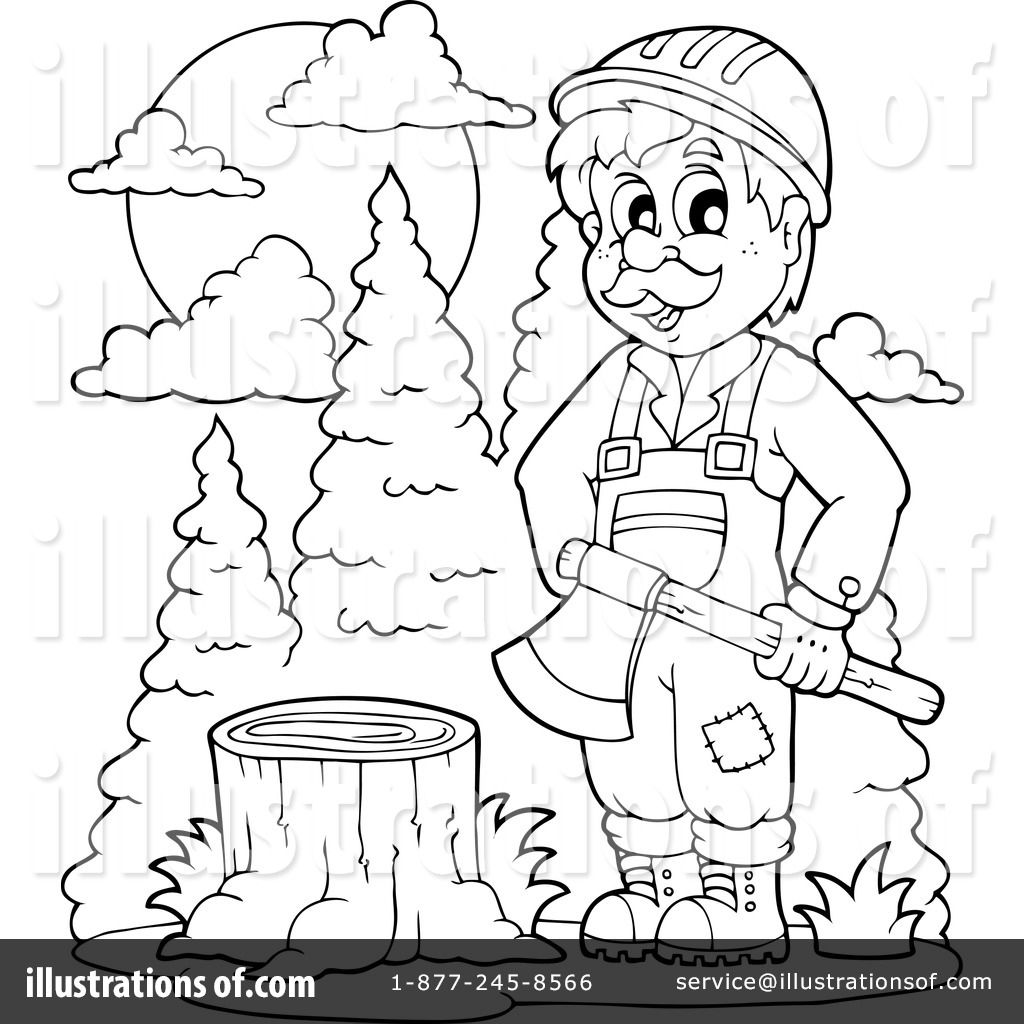 Lumberjack Coloring Pages At Getcolorings