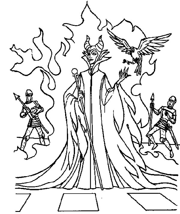 maleficent coloring page at getcolorings  free