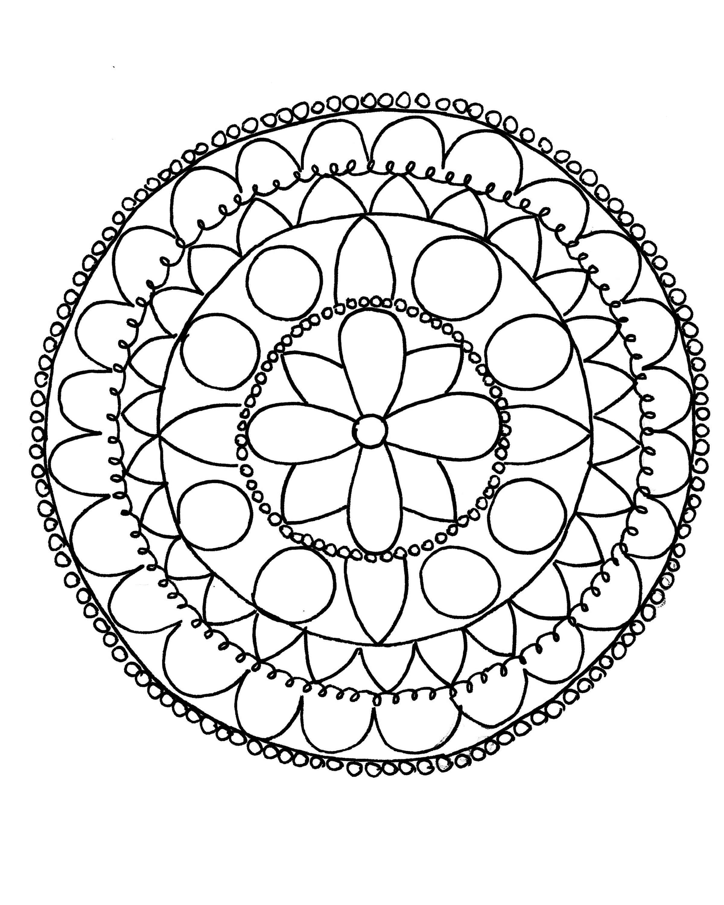 Mandala Design Coloring Pages At Getcolorings