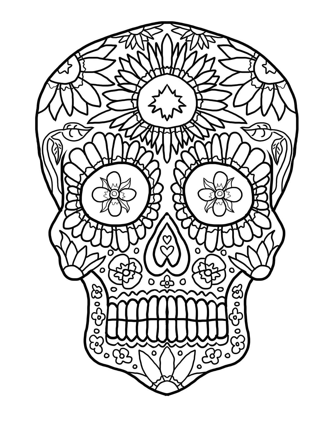 Mandala Skull Coloring Pages At Getcolorings