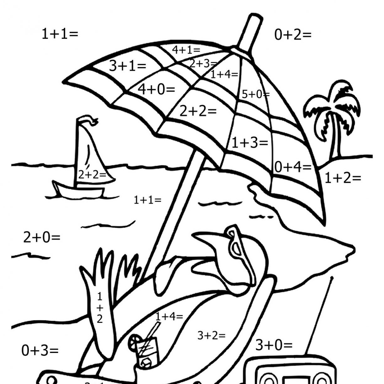 Math Facts Coloring Pages At Getcolorings