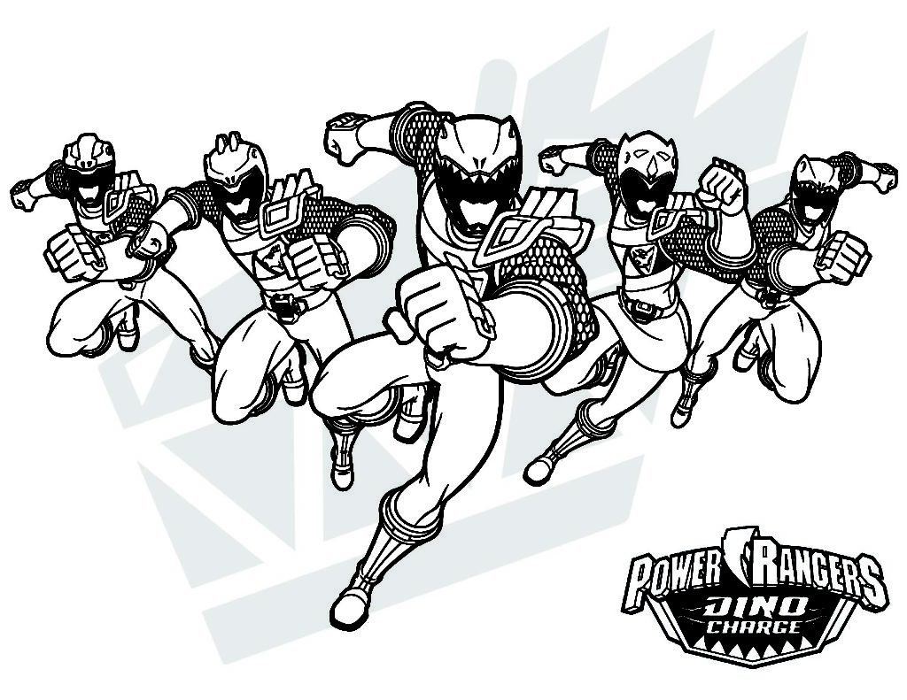 Power Rangers Dino Charge Megazord Coloring Pages