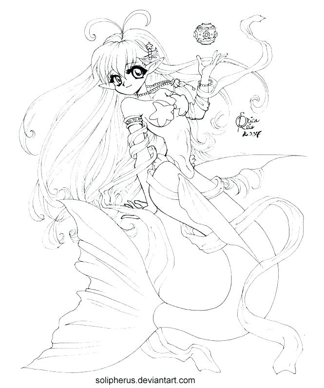 mermaid anime coloring pages at getcolorings  free