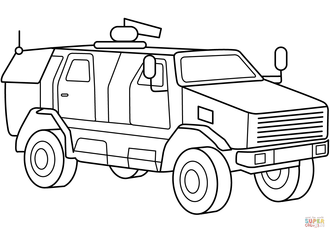 Military Vehicles Coloring Pages At Getcolorings