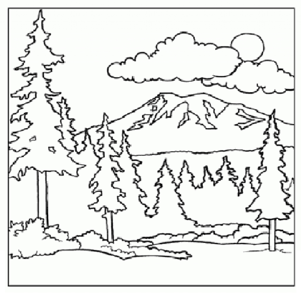 Mountain Scenery Coloring Pages At Getcolorings