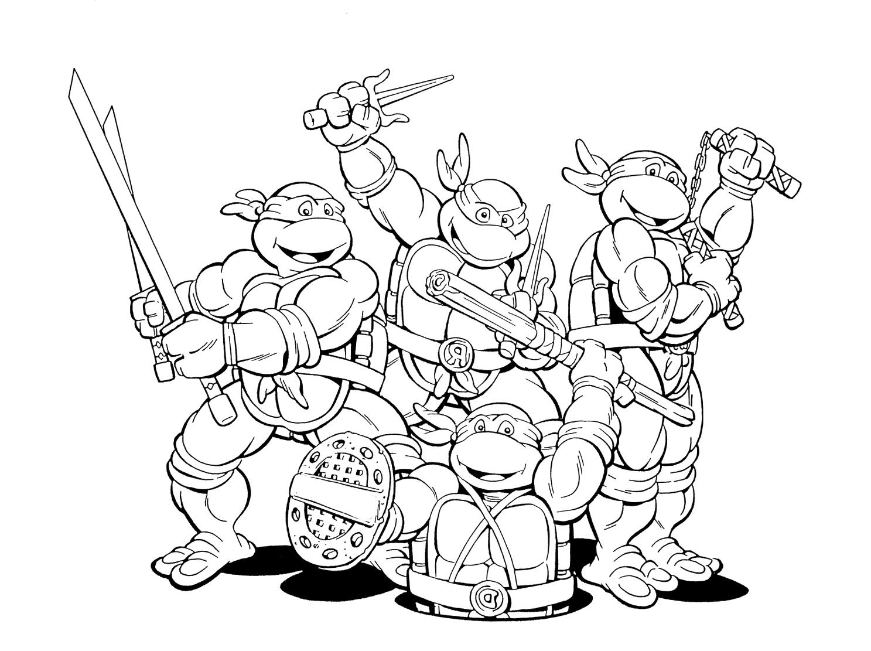 Ninja Turtles Movie Coloring Pages At Getcolorings