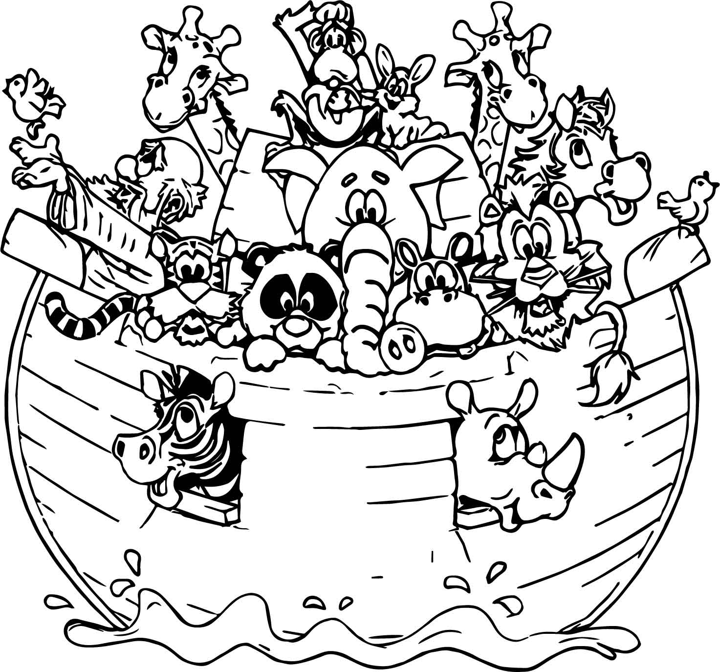 Noah And The Ark Coloring Pages At Getcolorings