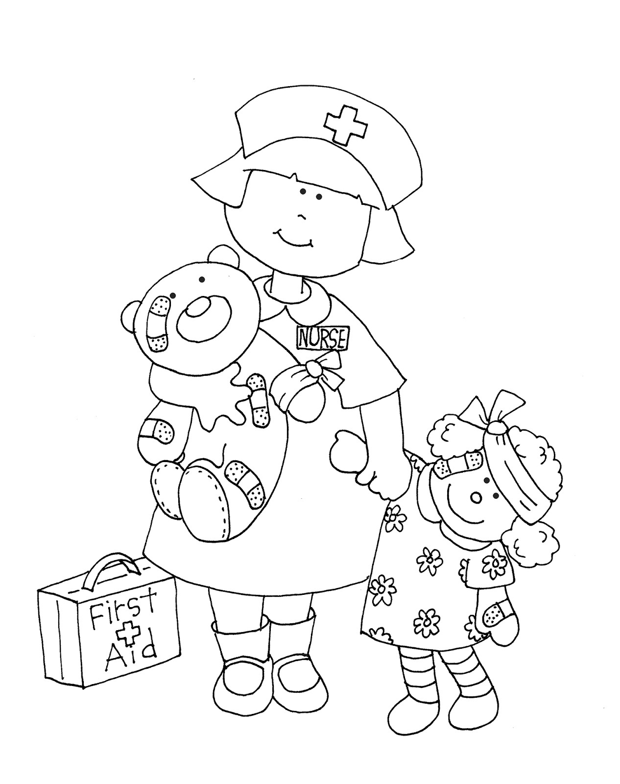 Nurse Coloring Pages For Preschool At Getcolorings