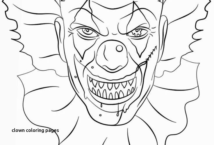 2017 It Coloring Clown Page It