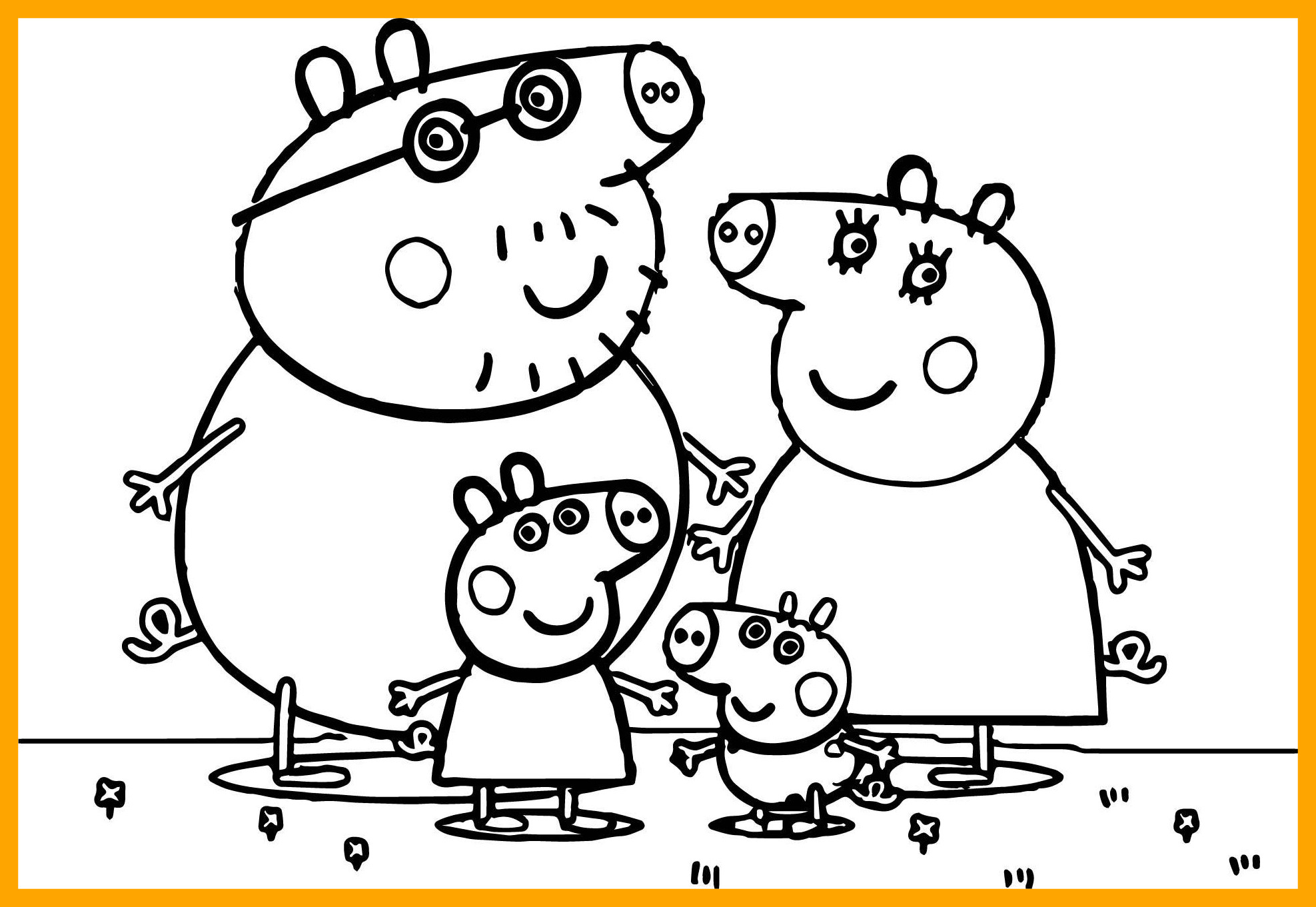 Peppa Pig Christmas Coloring Pages At Getcolorings