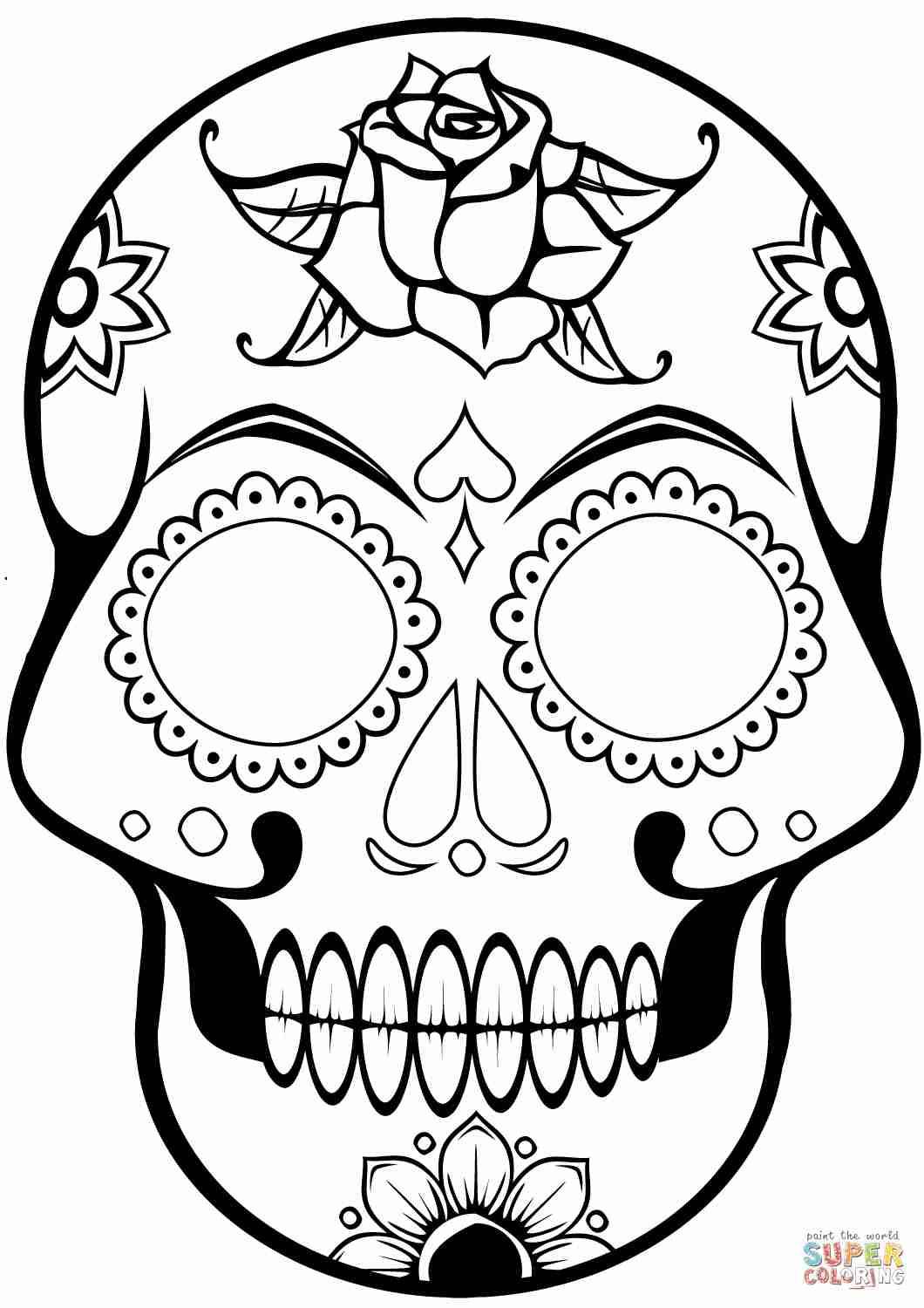 Pirate Skull Coloring Pages At Getcolorings