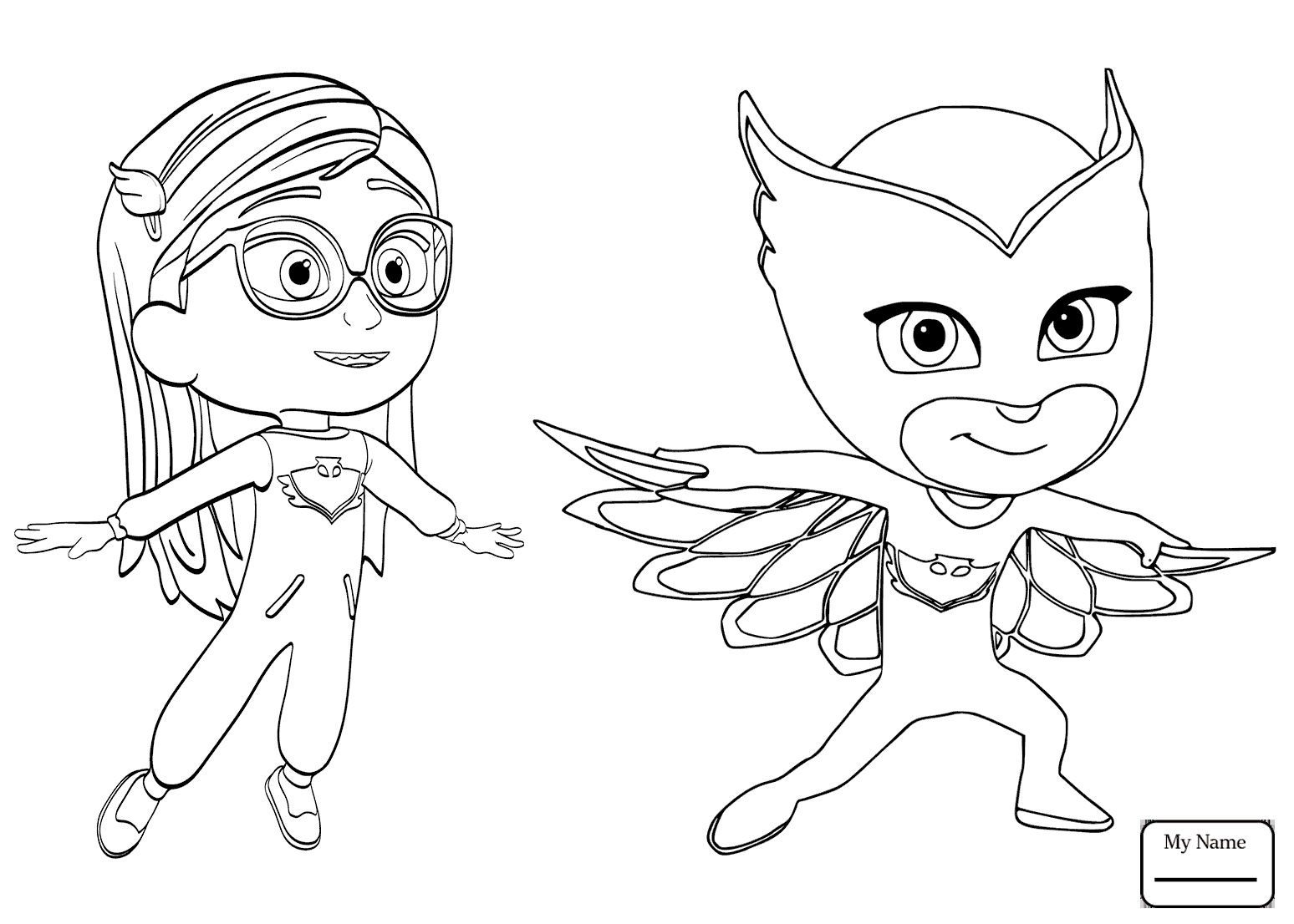 Pj Mask Coloring Pages At Getcolorings