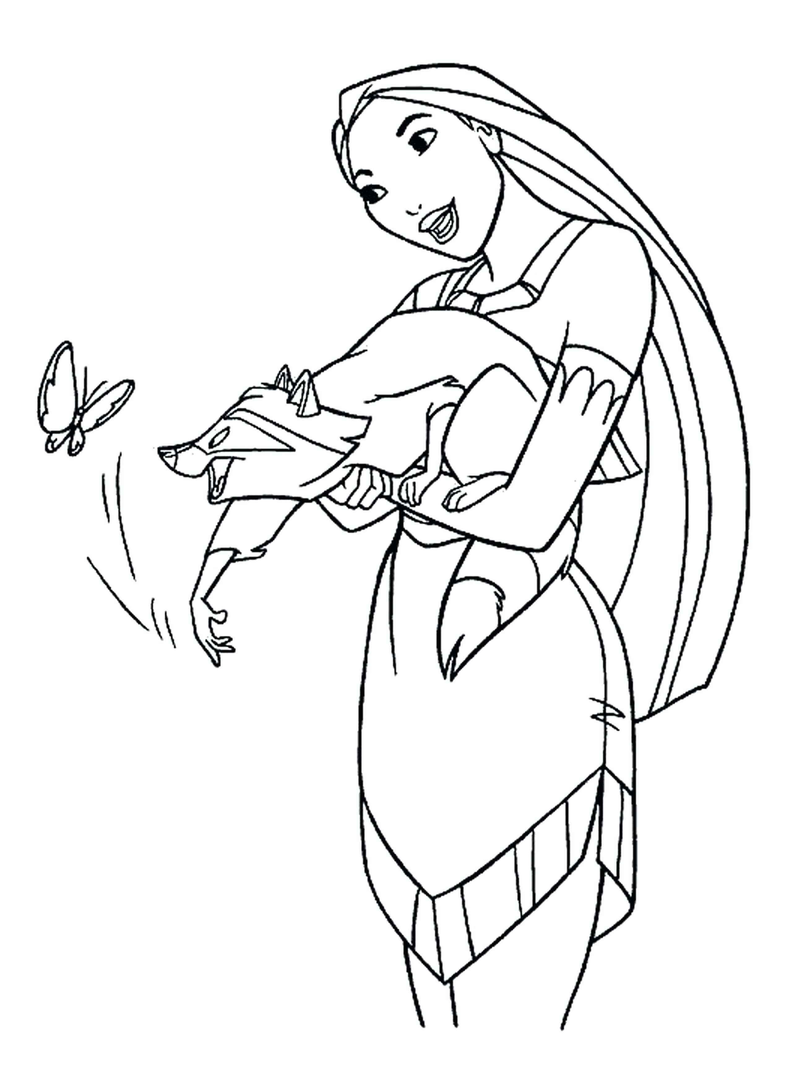 Pocahontas And John Smith Coloring Pages At Getcolorings
