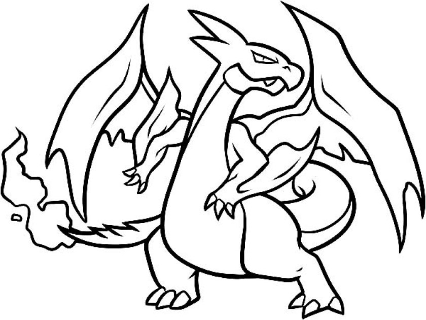 pokemon coloring pages mega charizard at getcolorings