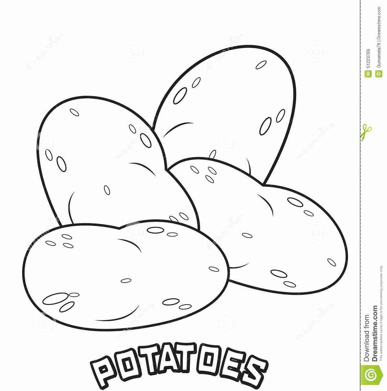 Potato Coloring Page At Getcolorings
