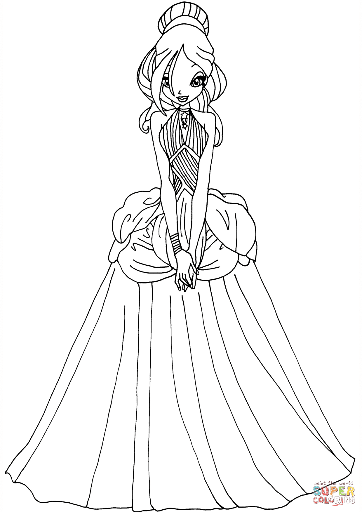 Printable Dresses Coloring Pages At Getcolorings