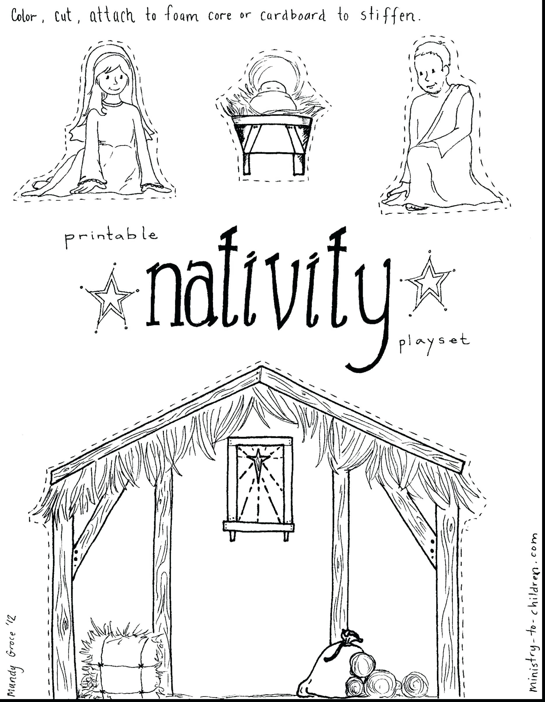 Printable Nativity Scene Coloring Pages At Getcolorings