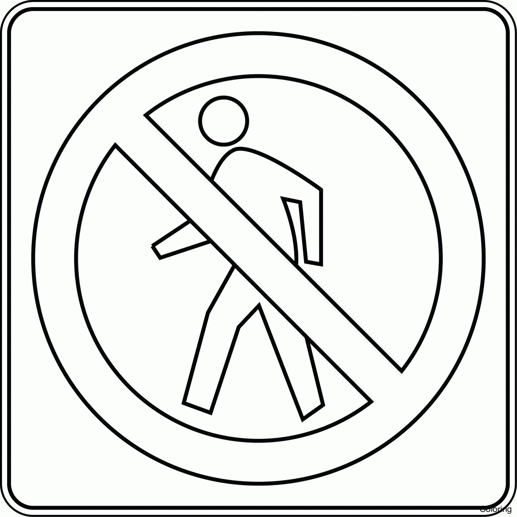 Printable Traffic Signs Coloring Pages At Getcolorings