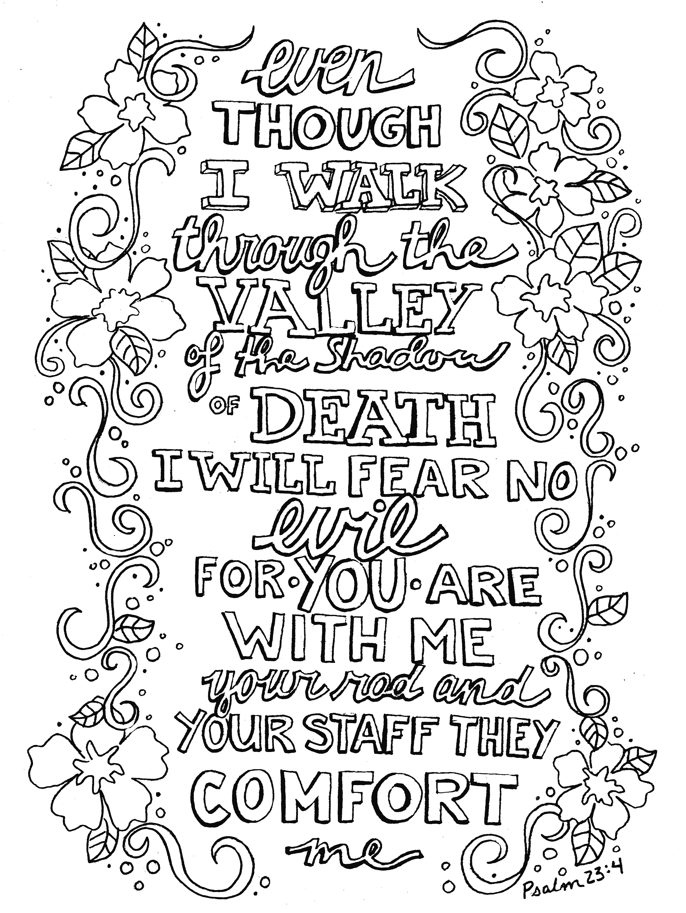 Psalms Coloring Pages At Getcolorings