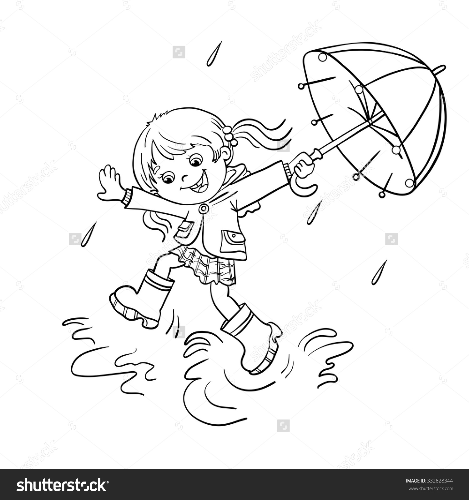 Puddle Coloring Page At Getcolorings