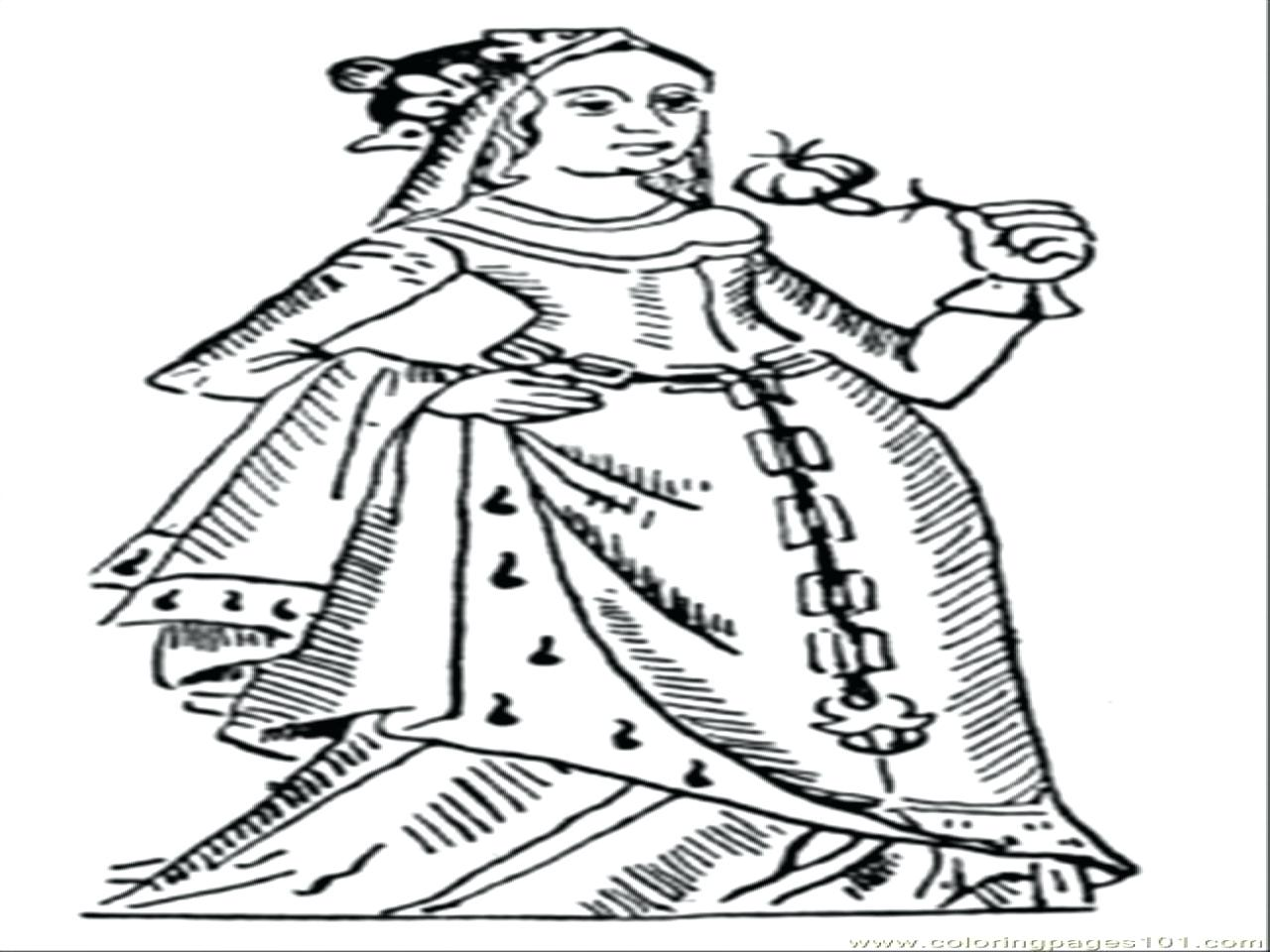 Queens Coloring Pages