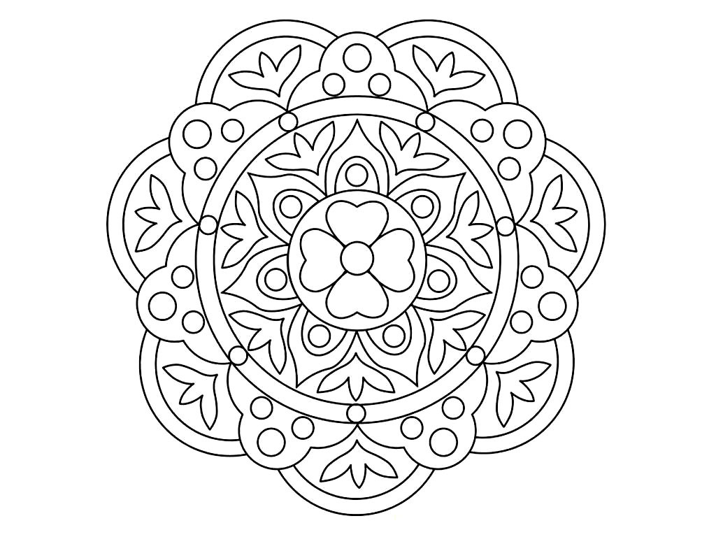 Rangoli Coloring Pages Printable At Getcolorings