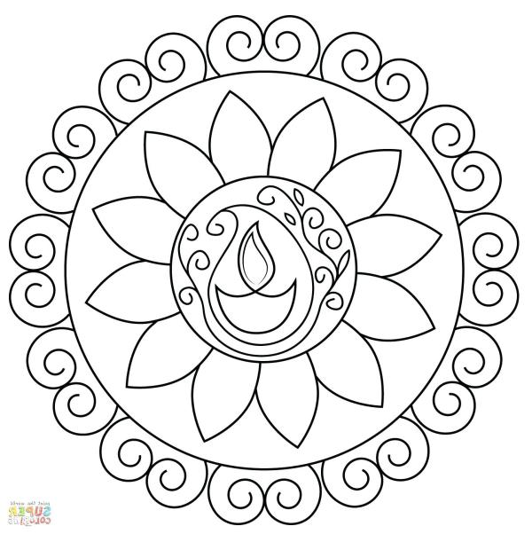 rangoli coloring pages # 68