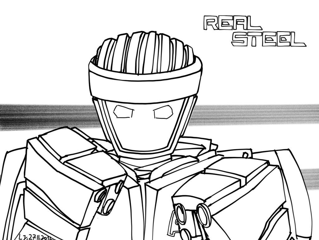 Real Steel Atom Coloring Pages At Getcolorings