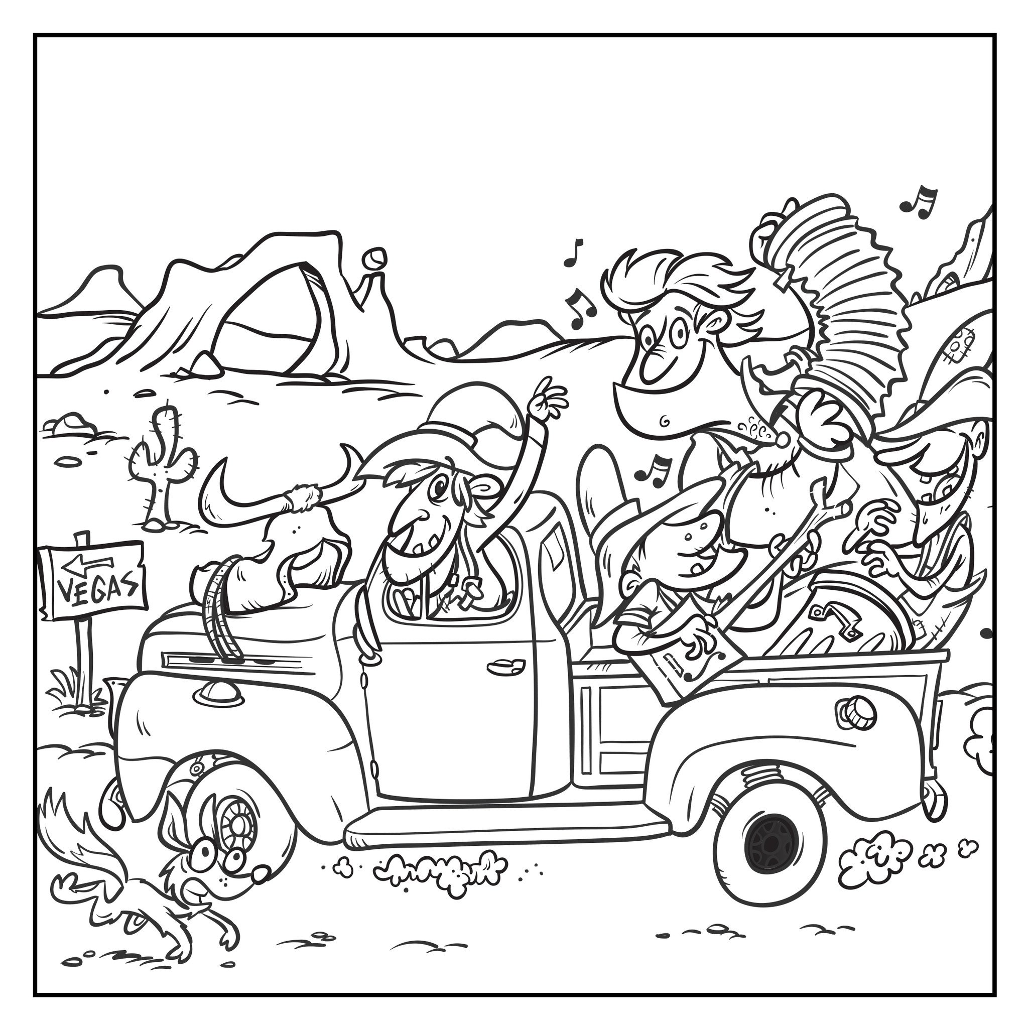 Road Trip Coloring Pages At Getcolorings