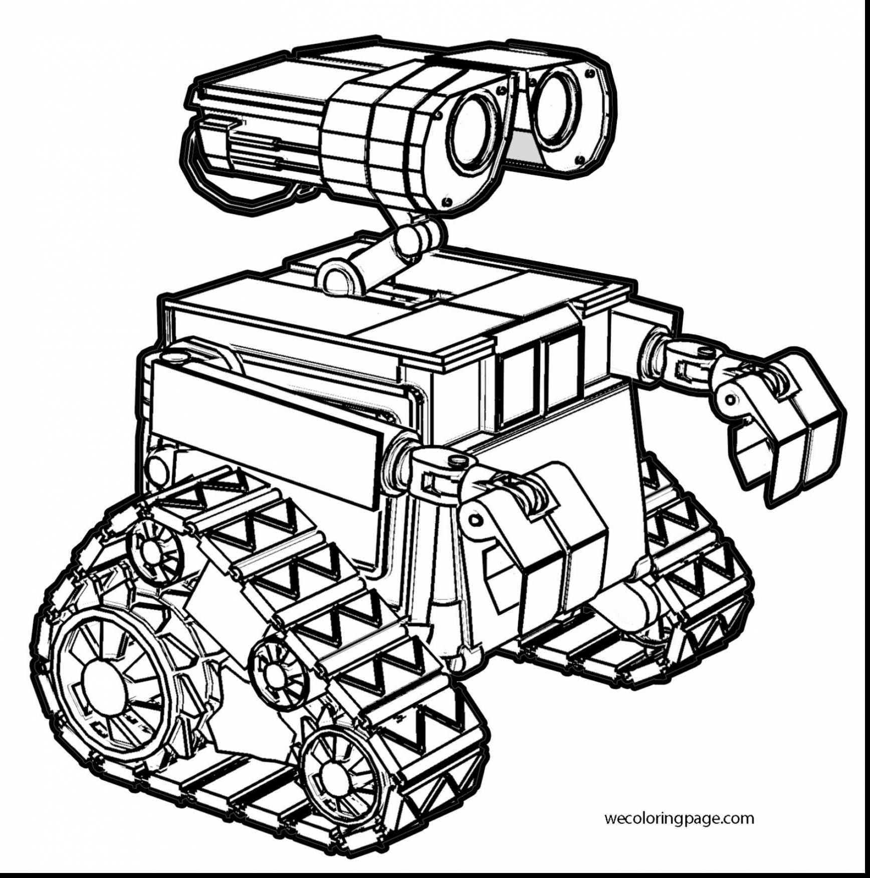Coloring Pages Robot Drawing For Kids Novocom Top