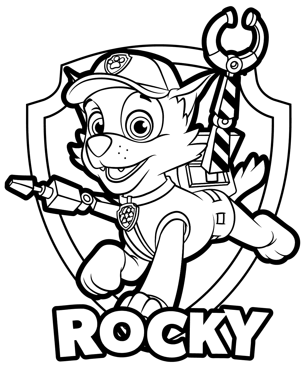 Rocky Coloring Page At Getcolorings