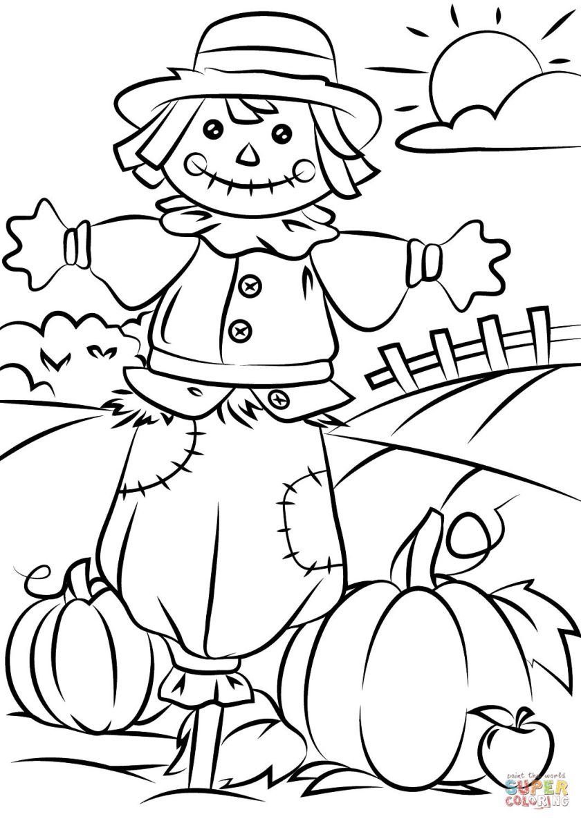 scarecrow coloring page at getcolorings  free