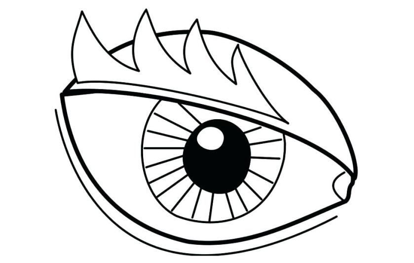 scary eyes coloring pages at getcolorings  free