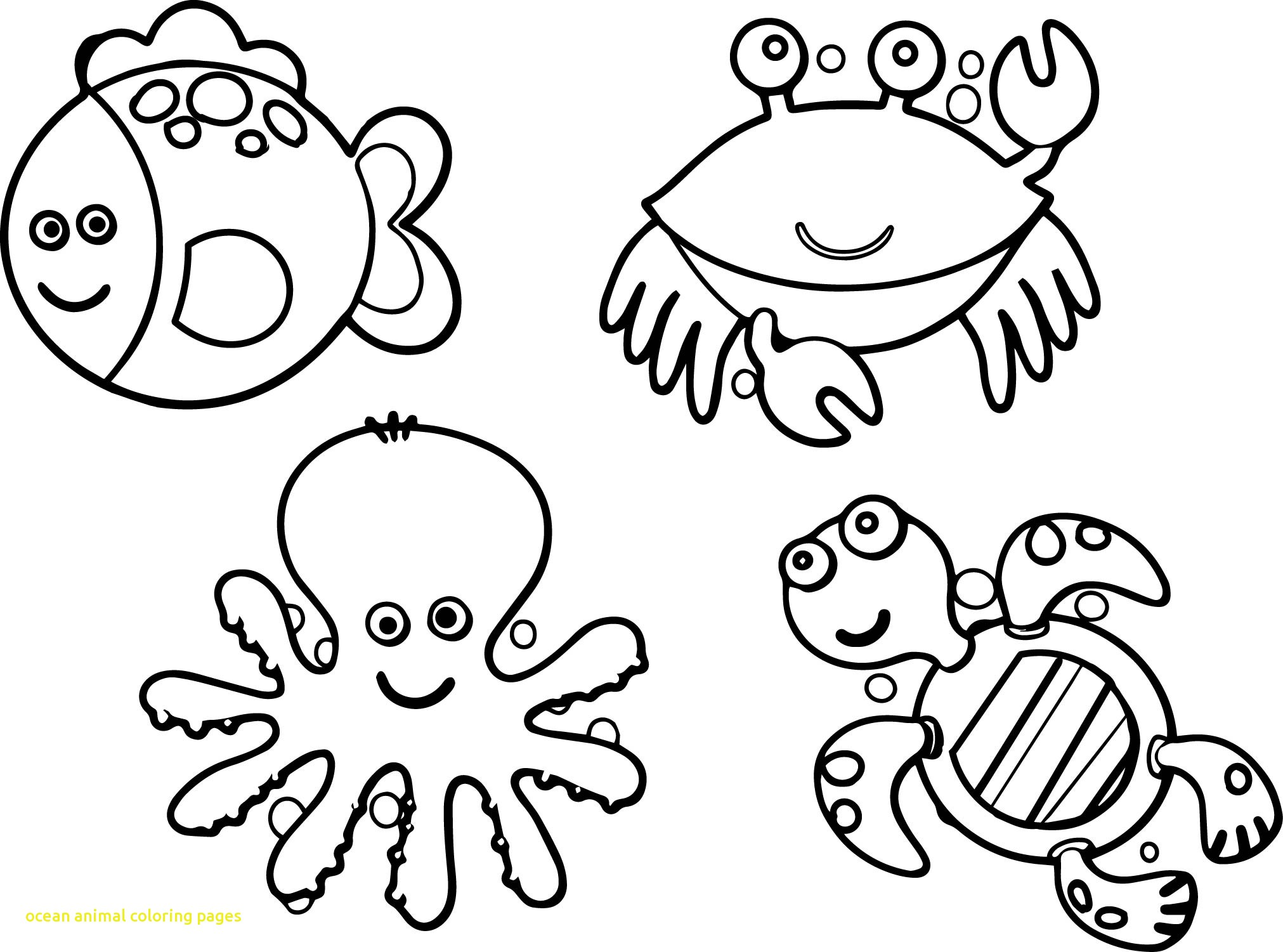 Sea Animals Coloring Pages For Kids At Getcolorings