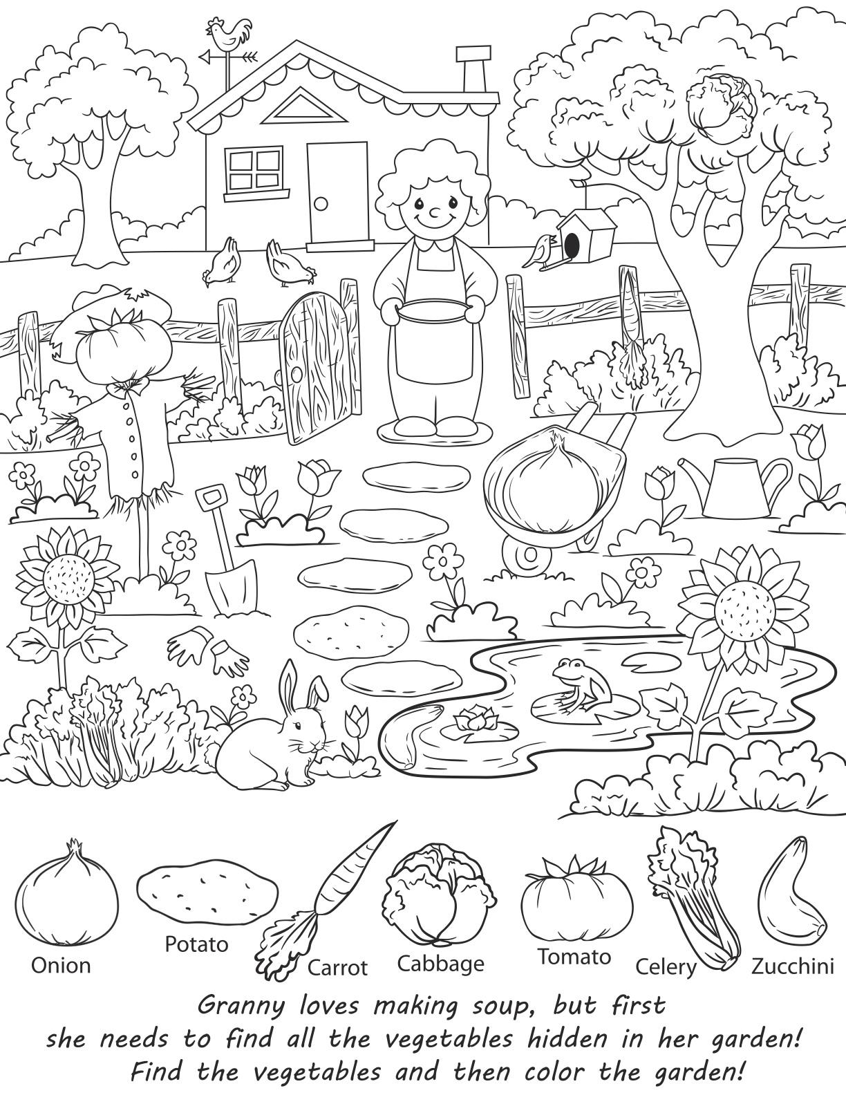 Hidden Object Worksheets Kindergarten