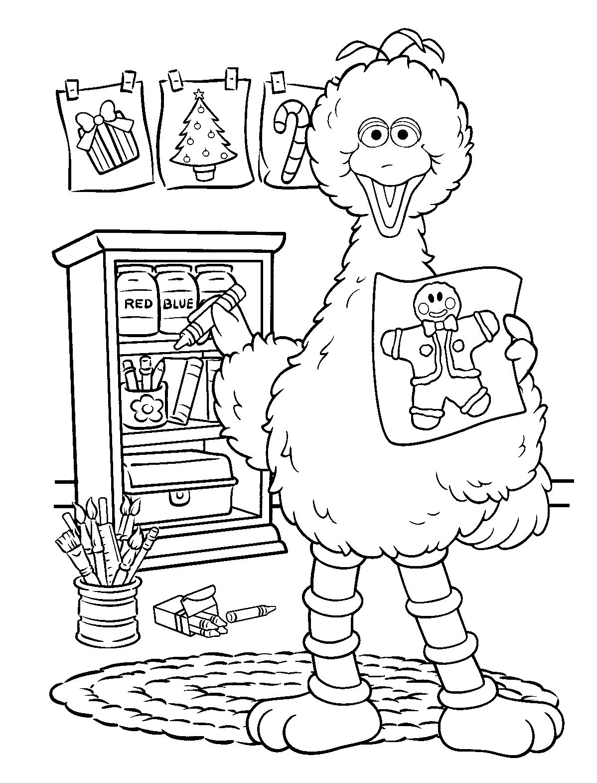 Sesame Street Christmas Coloring Pages At Getcolorings