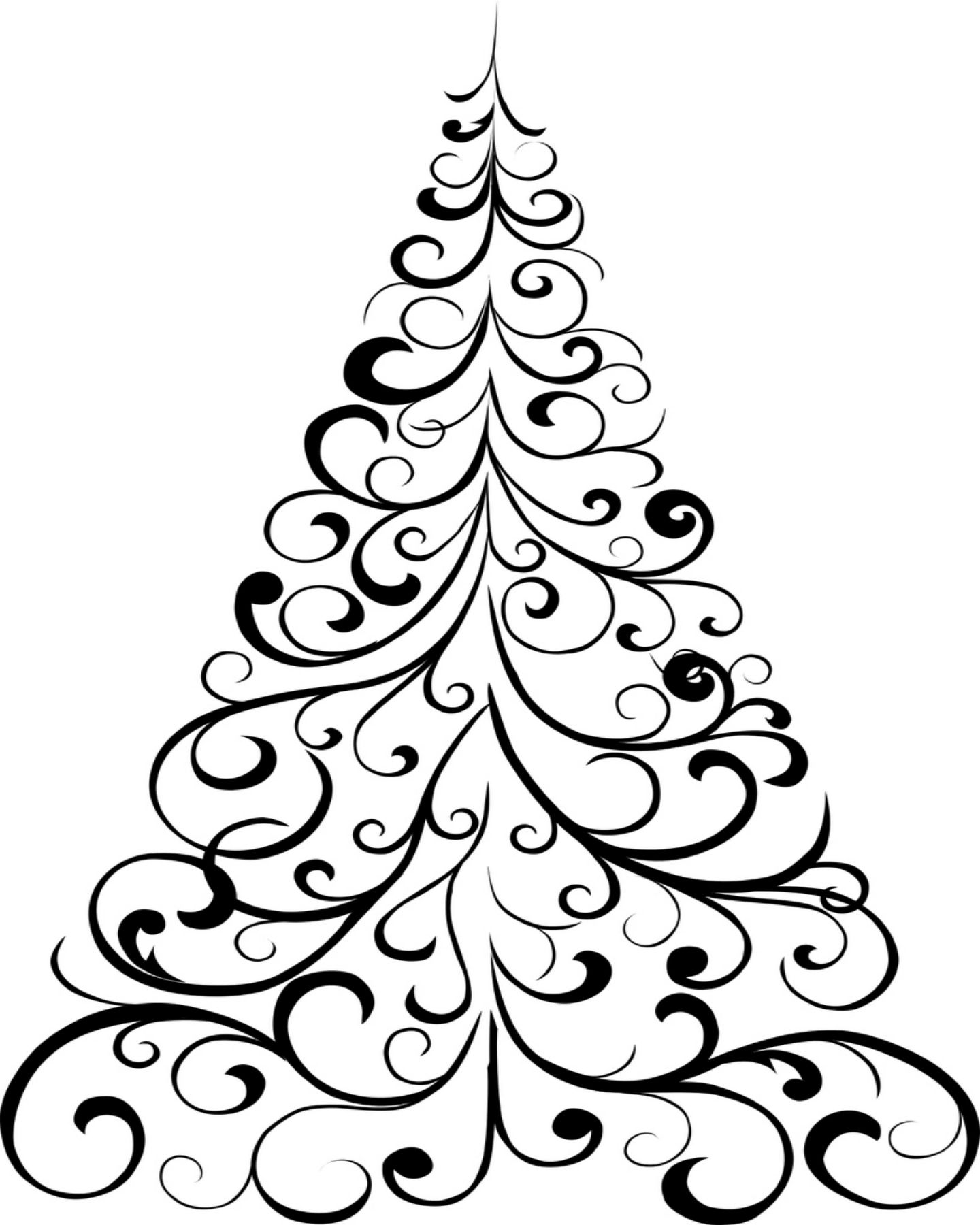 Simple Christmas Tree Coloring Pages At Getcolorings