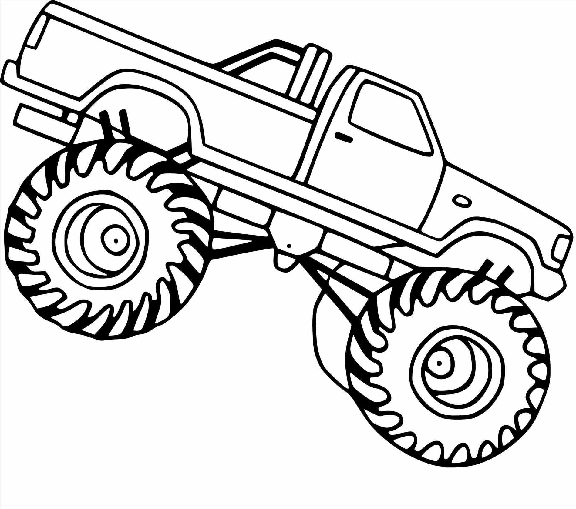 Monster Truck Coloring Pages Simple   Novocom.top
