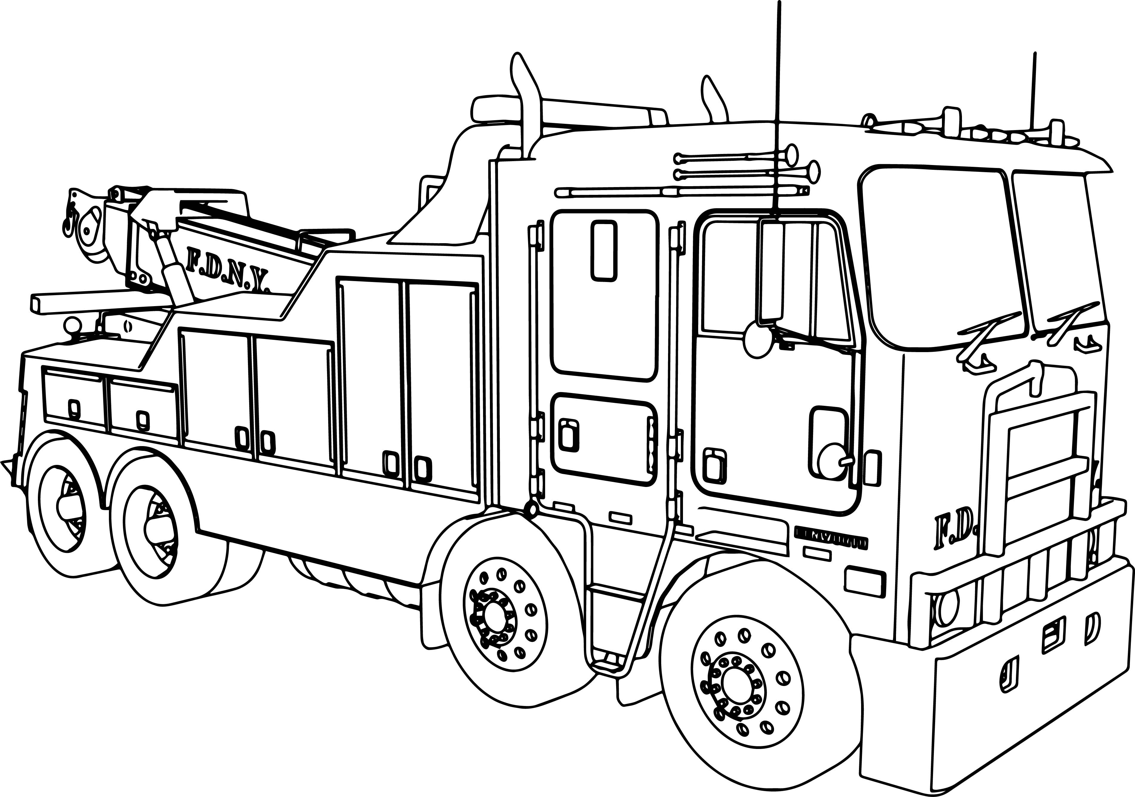 Simple Fire Truck Coloring Pages At Getcolorings
