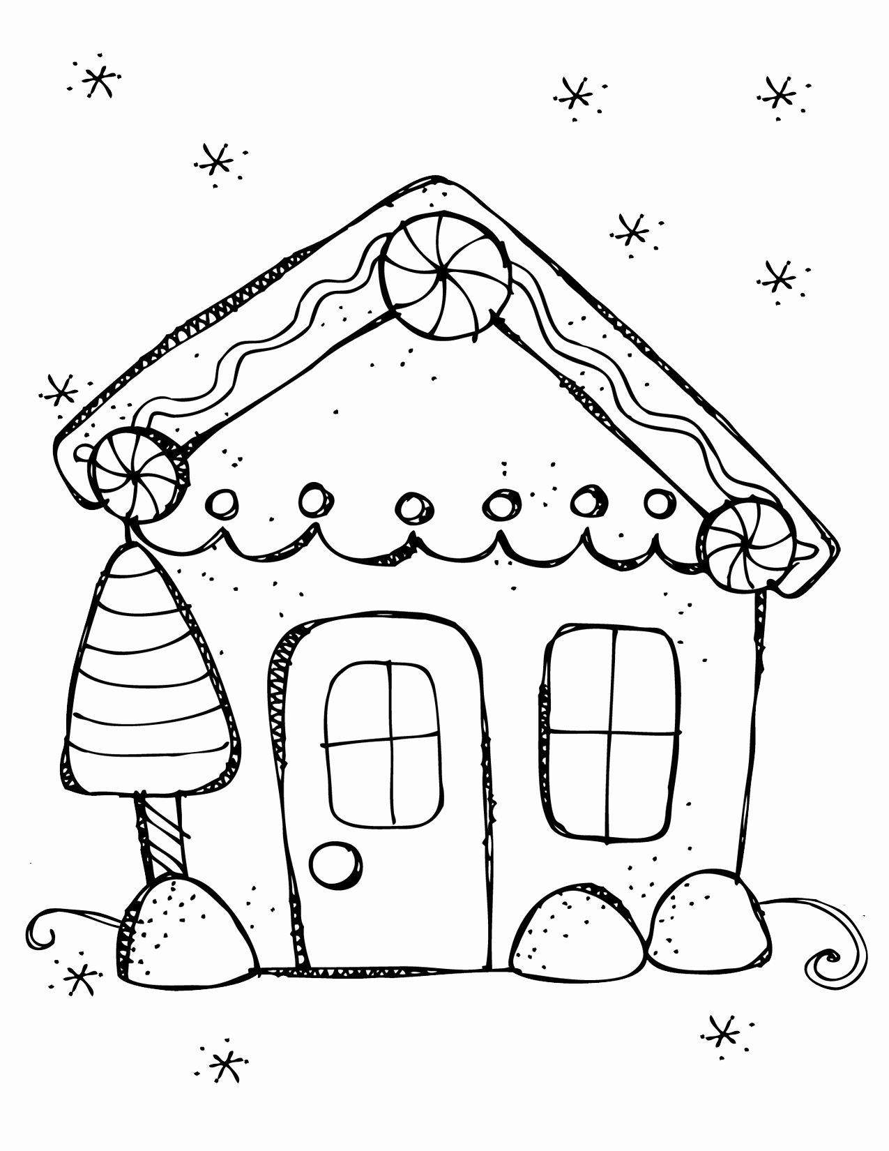 Simple House Coloring Pages At Getcolorings
