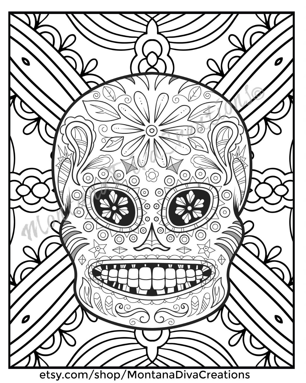 Skull Mandala Coloring Pages At Getcolorings