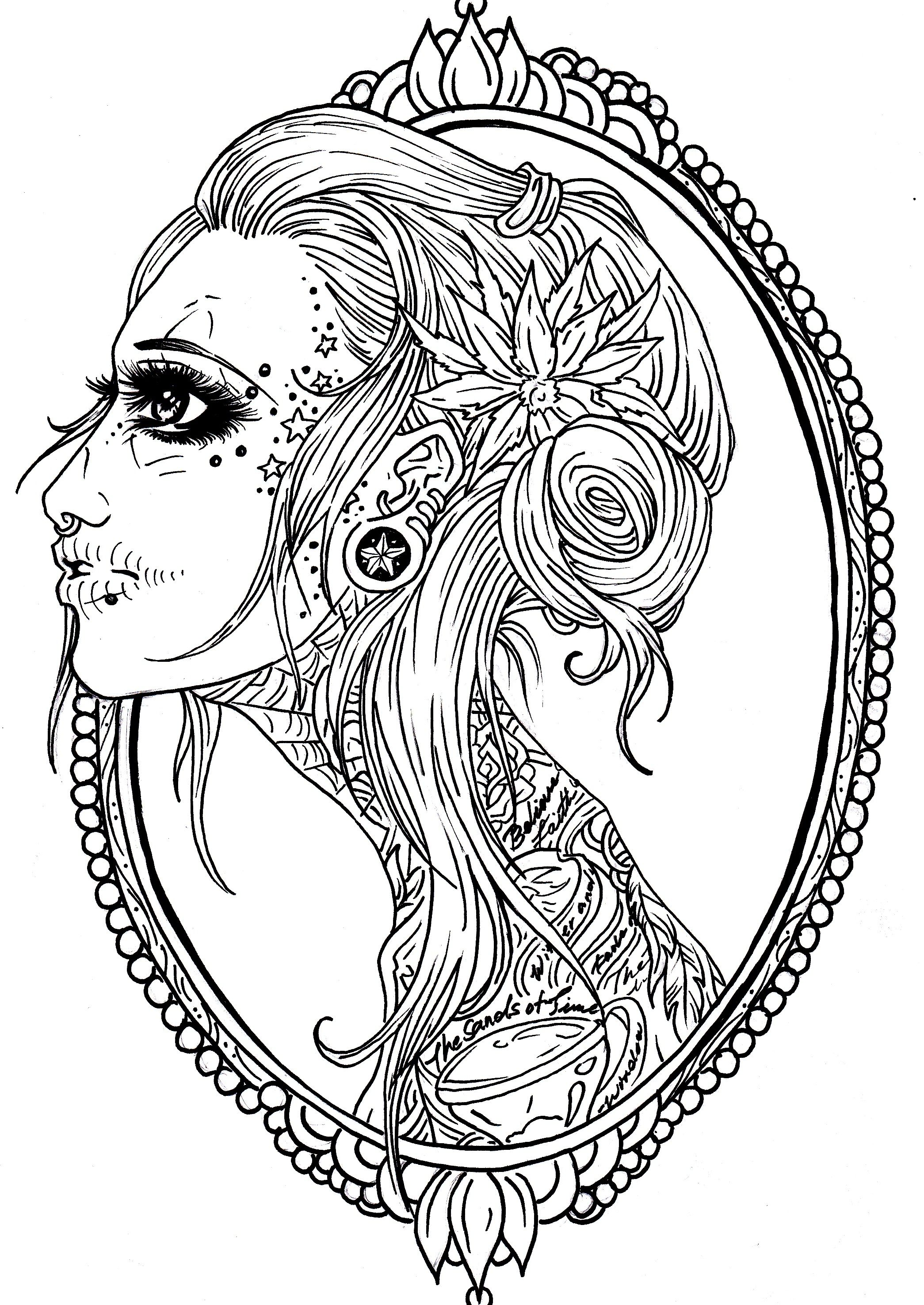Skull Tattoo Coloring Pages At Getcolorings