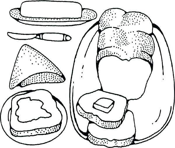 slice of bread coloring pages at getcolorings  free
