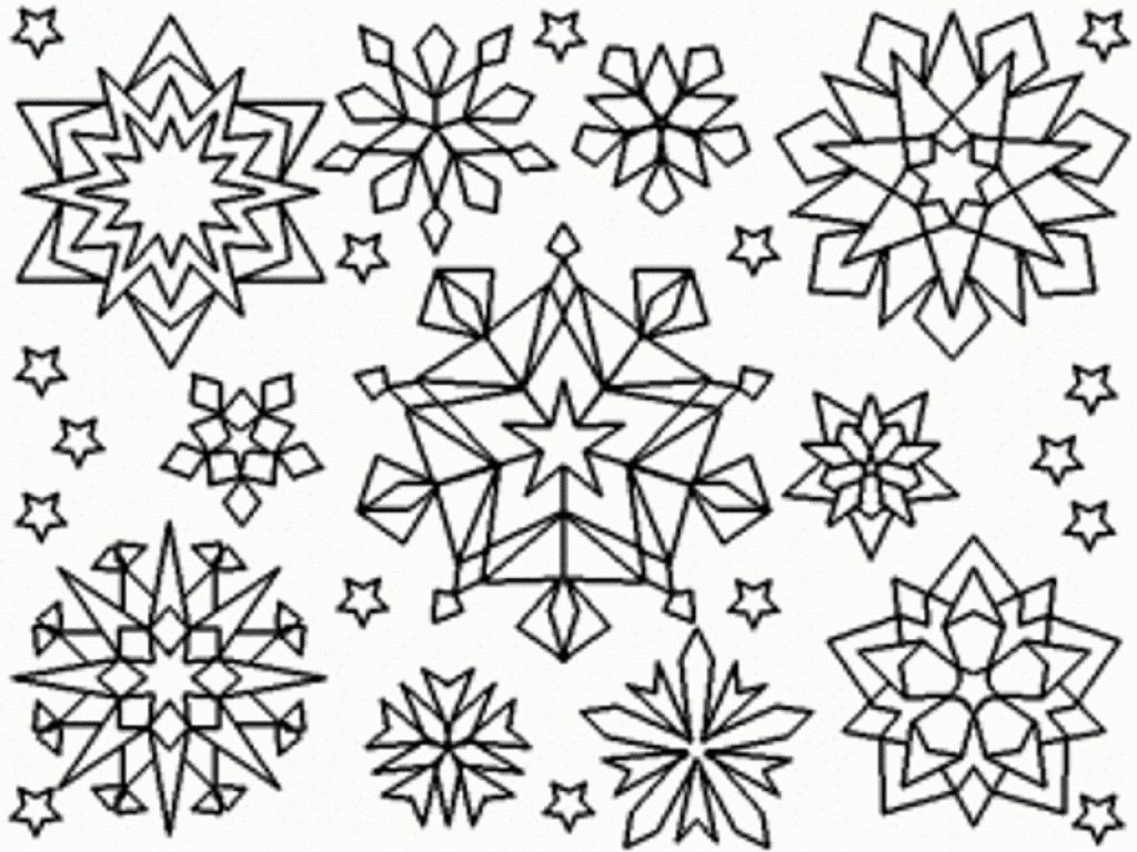 Easy Snowflake Coloring Pages At Getcolorings