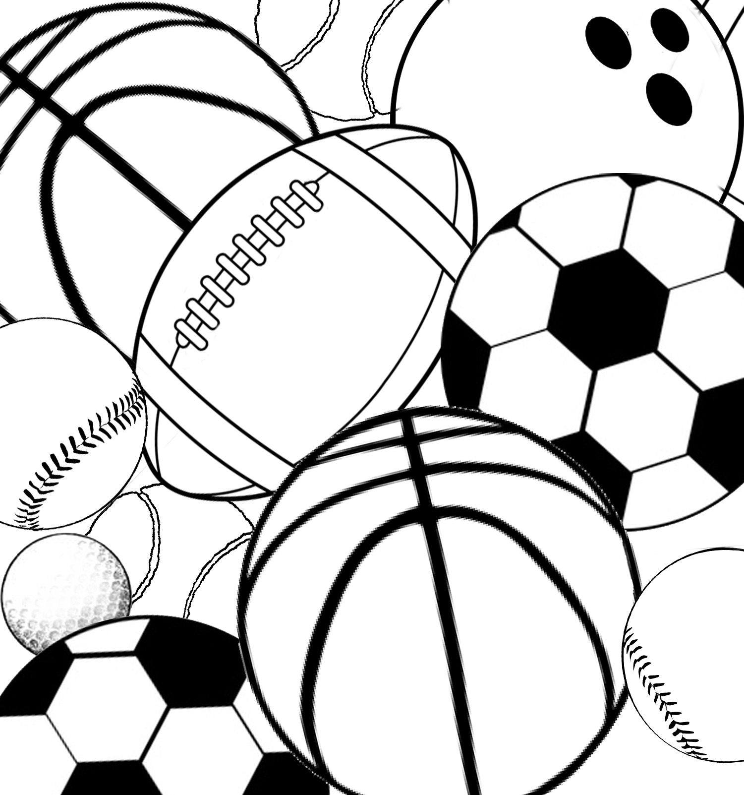 Sports Equipment Coloring Pages At Getcolorings
