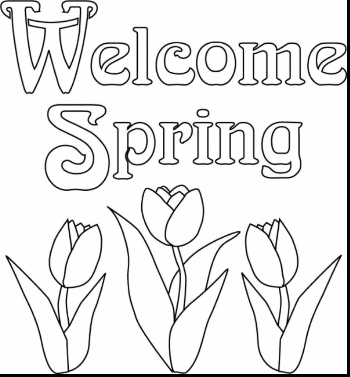 Spring Break Coloring Pages At Getcolorings