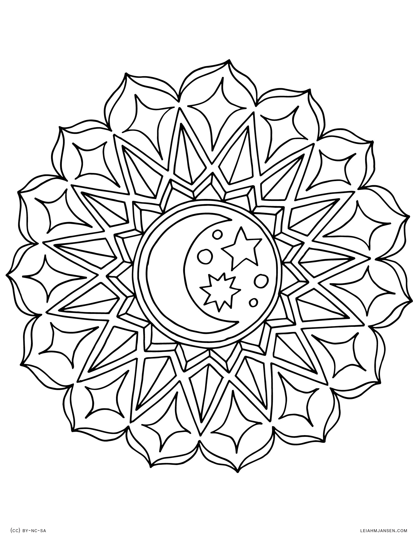 Star Mandala Coloring Pages At Getcolorings