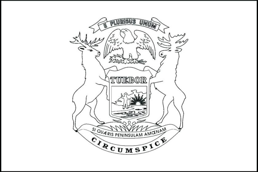 state of michigan coloring pages at getcolorings